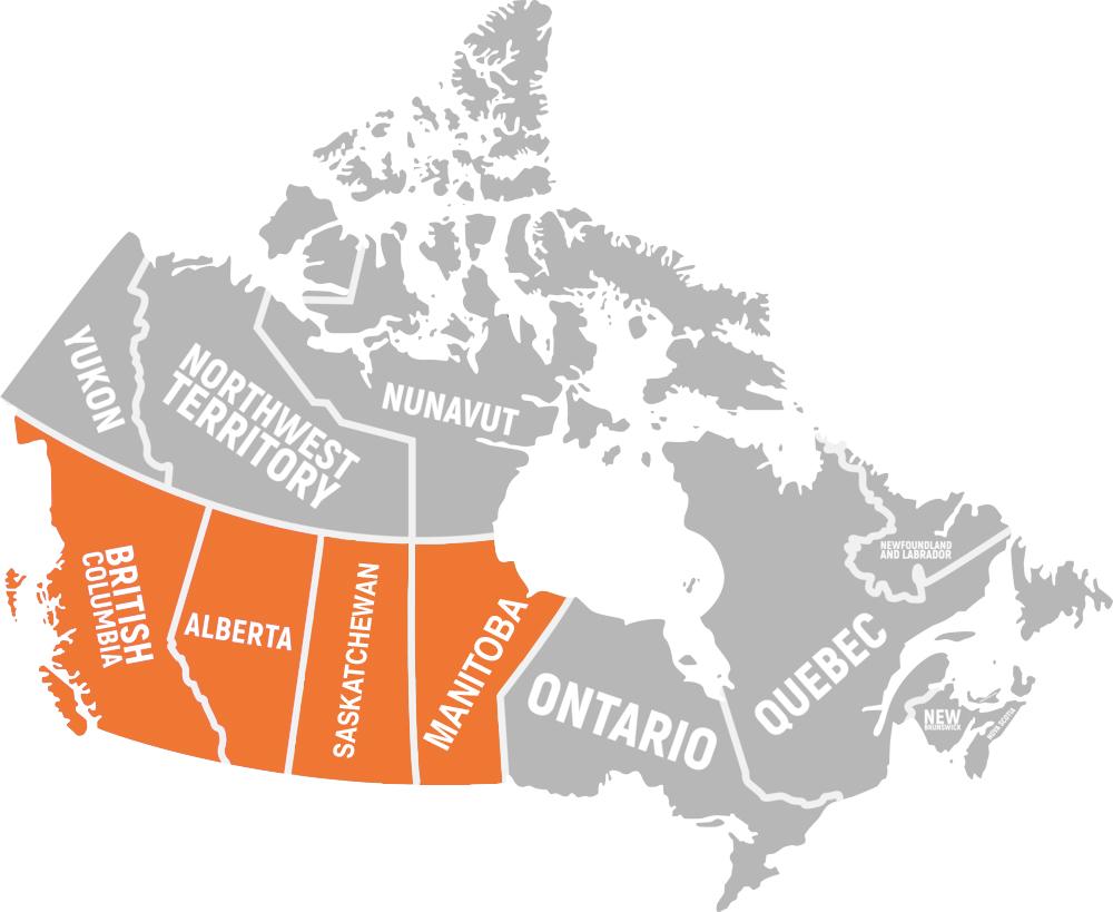 Canada Map Distribution